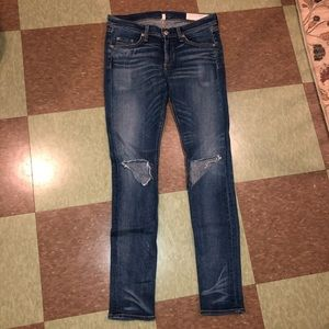 Rag & Bone distressed super skinny jeans 27